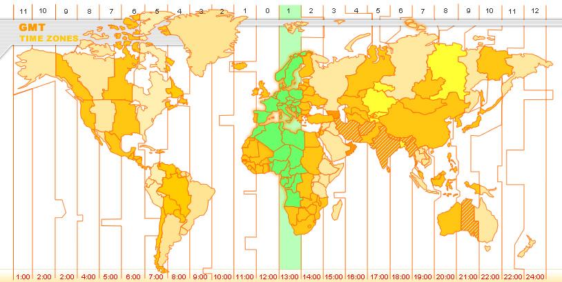 Zone Italy  city photos : World Time Zones